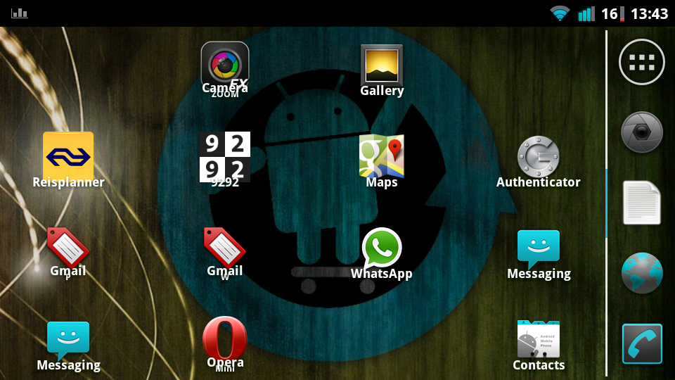 Screenshot of my Atrix 4G with CyanogenMod 7.2 and ADW.Ex Launcher.