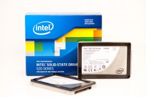Intel 520 self-encrypting SSD. Image courtesy of Anand Tech.